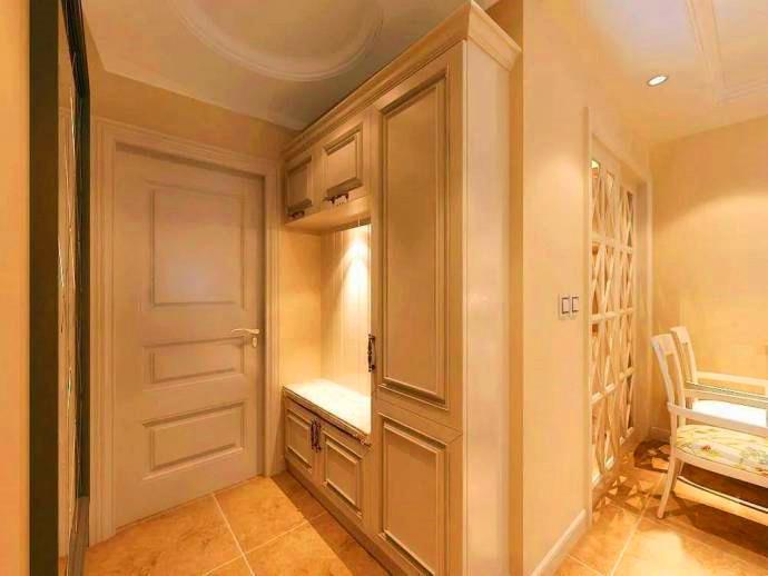 烟台装修设计:玄关处的封闭式衣柜设计,美观又实用
